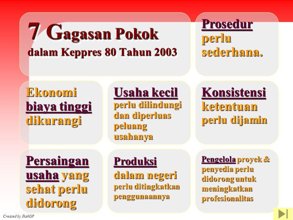 Created by IkakGP Prosedur perlu sederhana. Usaha kecil Usaha kecil perlu dilindungi dan diperluas peluang usahanya Konsistensi Konsistensi ketentuan