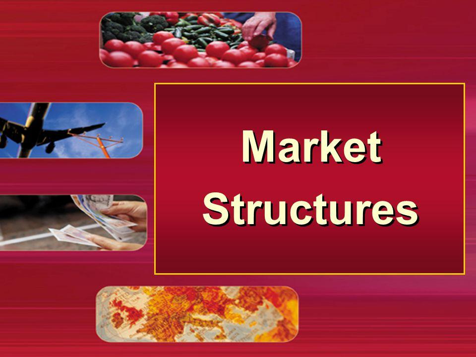 Struktur Pasar n Pasar äInteraksi antara penjual dan pembeli terhadap barang dan jasa tertentu n Pasar Kompetitif äSuatu pasar terdapat penjual dan pembeli yang memperdagangkan produk identik, sehingga masing-masing dari mereka akan menjadi penerima harga