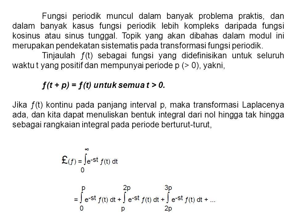 Fungsi periodik muncul dalam banyak problema praktis, dan dalam banyak kasus fungsi periodik lebih kompleks daripada fungsi kosinus atau sinus tunggal