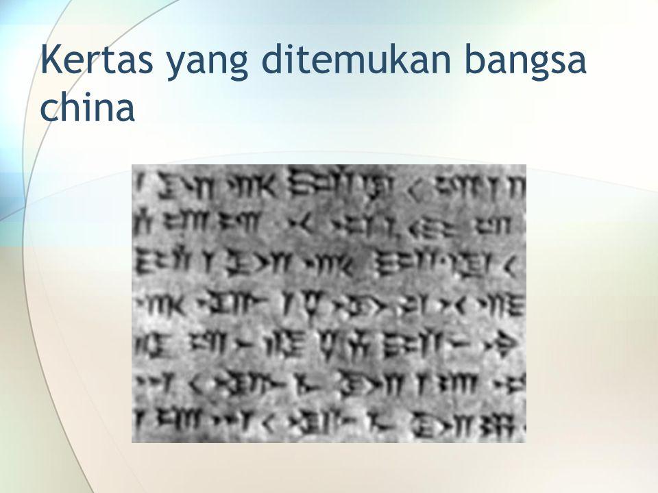 Kertas yang ditemukan bangsa china