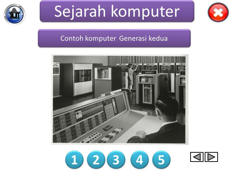 Komputer generasi kedua menggunakan transistor dan dioda untuk menggantikan tabung. Kecepatan proses komputer generasi kedua lebih cepat dibandingkan