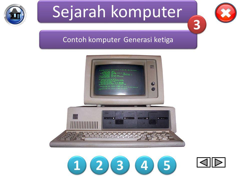 Komputer generasi ketiga dibuat dengan menggabungkan beberapa komponen di dalam satu tempat. tampilan dari komputer juga disempurnakan. Selain itu, ko