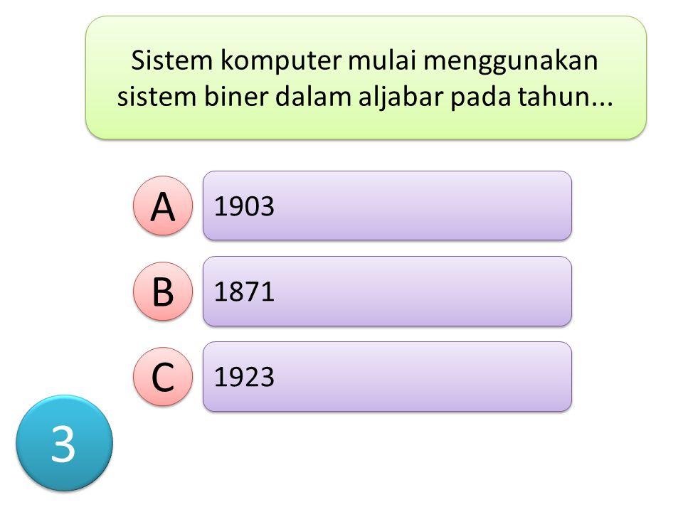 Bahasa-bahasa pemrogaman bermunculan mulai generasi..... A A B B C C Pertama Kedua Ketiga 2 2