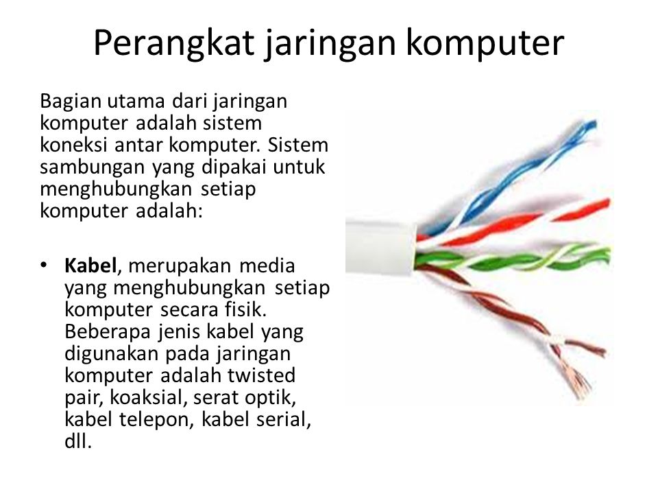 Perangkat jaringan komputer Wireless, merupakan media yang menghubungkan setiap komputer tanpa menggunakan kabel.