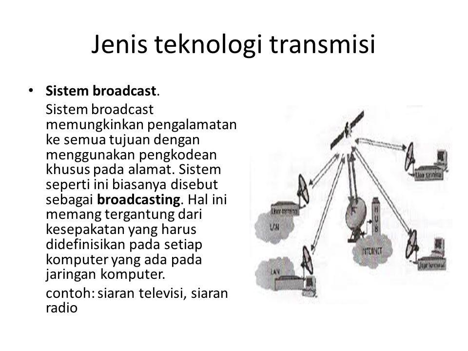Jenis teknologi transmisi * Sistem point to point.