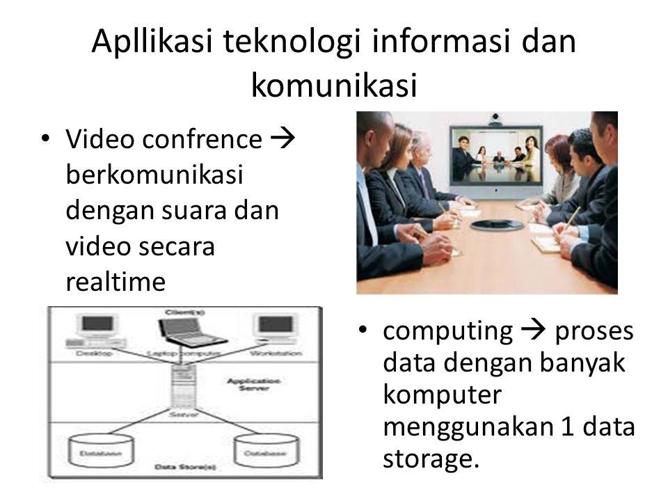 Apllikasi teknologi informasi dan komunikasi Virtual Office  representasi suatu kantor, bekerja tidak perlu pergi ke kantor.