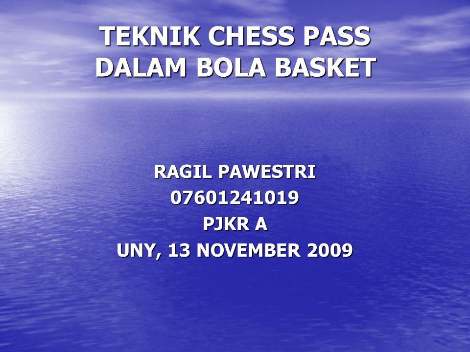 TEKNIK CHESS PASS DALAM BOLA BASKET RAGIL PAWESTRI 07601241019 PJKR A UNY, 13 NOVEMBER 2009