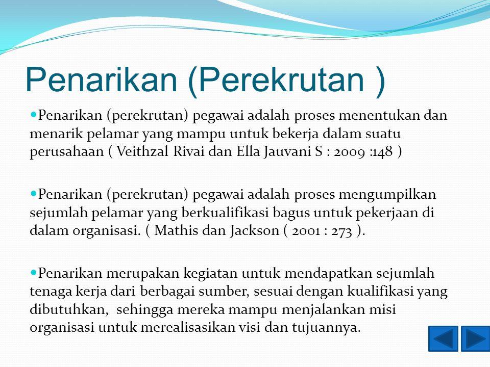 Prosedur seleksi 1.Seleksi Surat Lamaran 2. Pemeriksaan Referensi 3.