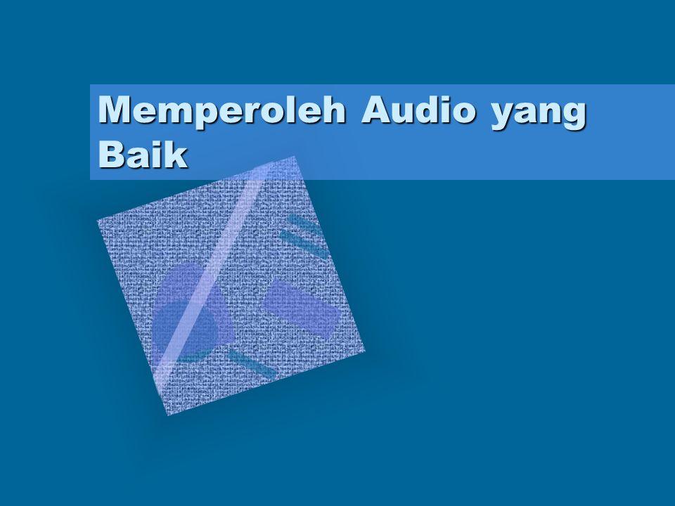 Peralatan yang digunakan dalam produksi audio Mikrofon Mikrofon merupakan barisan terdepan dalam sebuah proses rekaman.