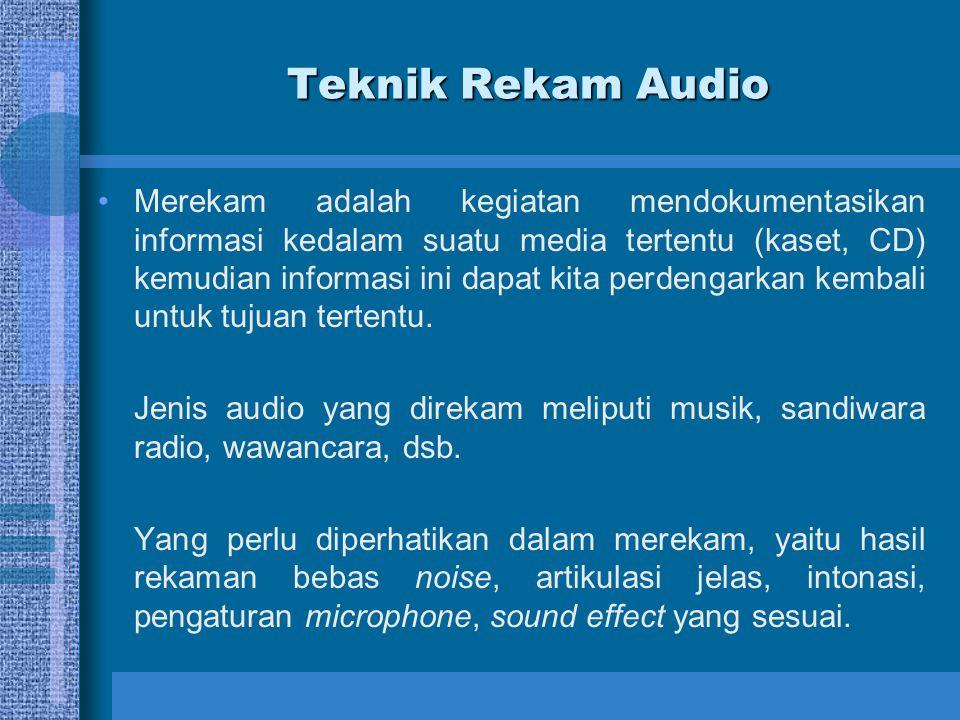 Tips Menangkap Audio 1.Memilih Mikrofon Tentu saja, laptop atau PC Anda mungkin built-in microphone, tetapi Anda mungkin tidak ingin berakhir dengan suara seperti speaker rusak.