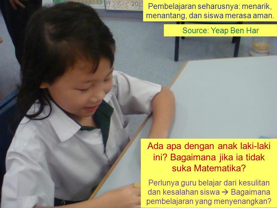 """Faktanya: Matematika sangat penting namun banyak siswa yang tidak menyukainya.  Bagaimana masa depan anak tersebut? Even dan Ball (2009:1): """"... teac"""