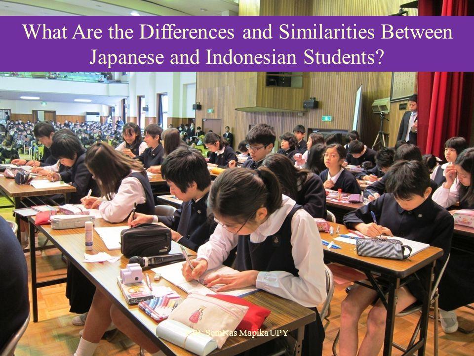 Belajar dari Video  Apa saja persamaan dan perbedaan proses pembelajarannya?  Bagaimana guru di Jepang memfasilitasi siswanya untuk belajar secara b