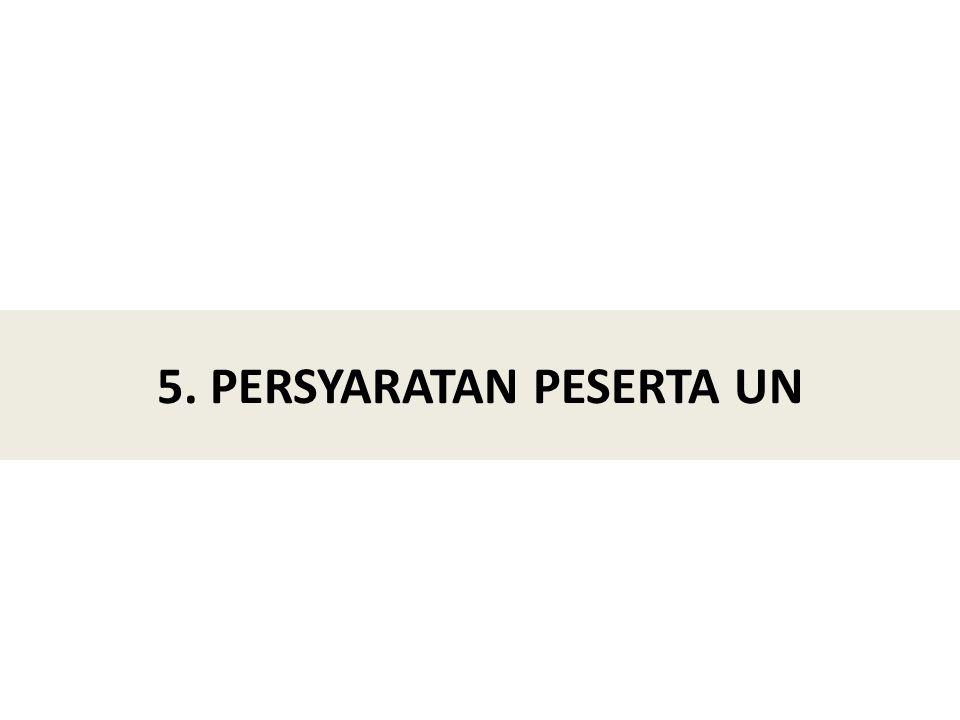 5. PERSYARATAN PESERTA UN