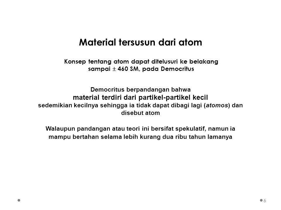 Spektrum Atom Hidrogen Deretn1n1 n2n2 Radiasi Lyman12,3,4,…UV Balmer23,4,5,…tampak Paschen34,5,6,…IR Brackett45,6,7,…IR Pfund56,7,8,…IR 1 2 3 4 5 deret Lyman deret Balmer deret Paschen Tingkat Energi 27