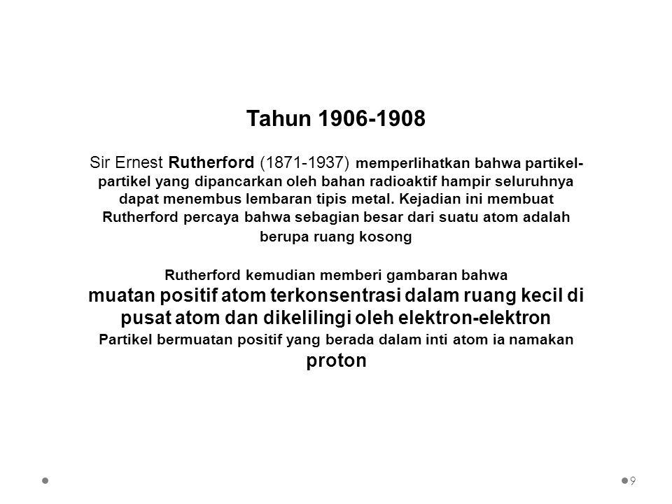 Walaupun model atom Bohr kurang memadai untuk menjelaskan berbagai gejala atom, namun kita akan meninjaunya agar memperoleh gambaran lengkap mengenai perkembangan pengertian tentang atom Model atom yang dikemukakan oleh Bohr berbasis pada model yang diberikan oleh Rutherford, yaitu bahwa atom terdiri dari partikel-partikel.