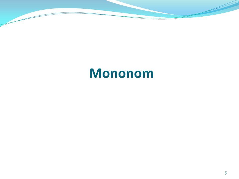 Mononom adalah pernyataan tunggal yang berbentuk kx n Mononom Pangkat Dua: y = x 2 y = 3x 2 y = 5x 2 y 0 1 2 3 4 5 6 7 8 9 10 -3-20123 x -100 -80 -60 -40 -20 0 -5 -4 -3 -2 -1 0 1 2 3 4 5 y x Contoh: y memiliki nilai maksimum Karena x 2  0,maka jika k > 0  y > 0 y memiliki nilai minimum 6 jika k < 0  y < 0