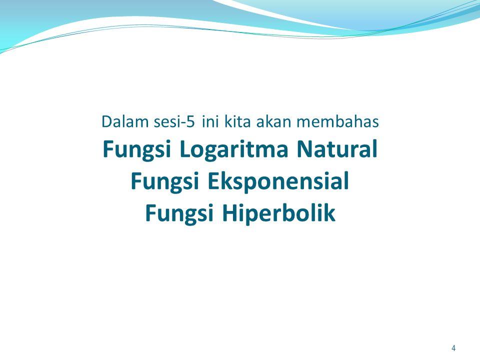 Fungsi Logaritma Natural 5