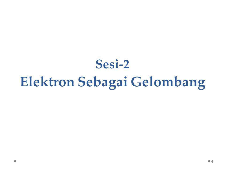 Sesi-2 Elektron Sebagai Gelombang 4