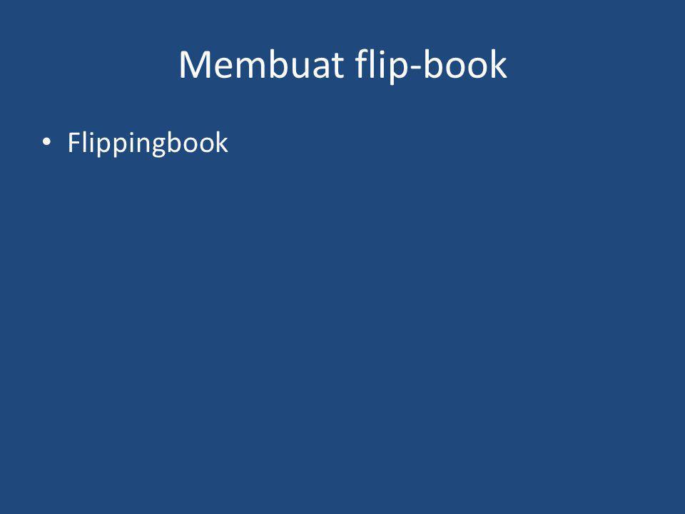 Membuat flip-book Flippingbook