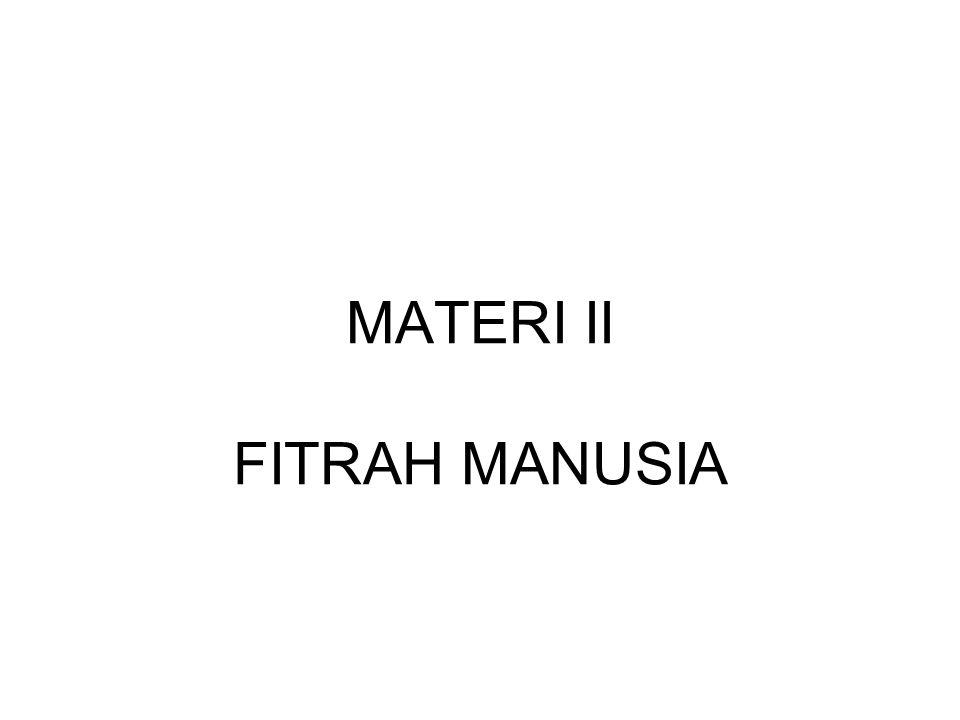 MATERI II FITRAH MANUSIA
