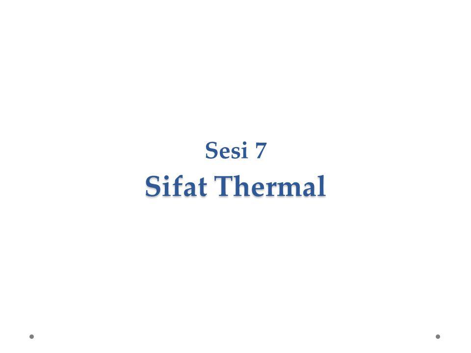 Sifat-sifat thermal yang akan dibahas adalah kapasitas panas panas spesifik pemuaian konduktivitas panas 5