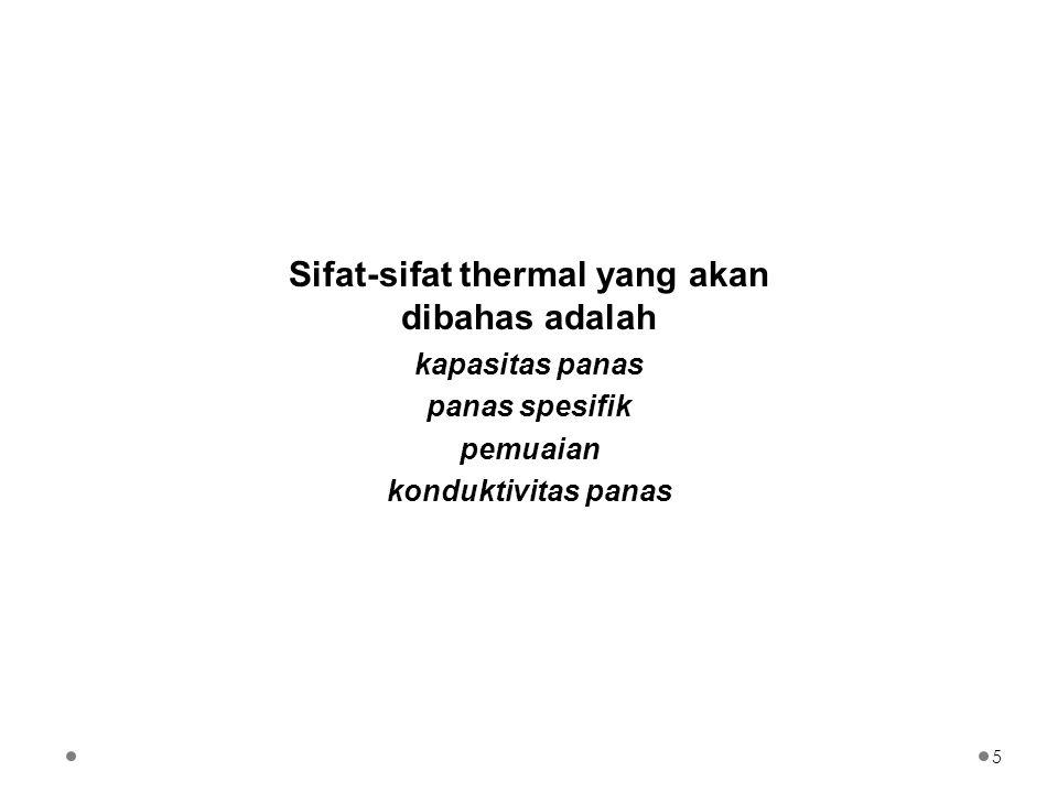 Isolator thermal yang baik adalah material yang porous.