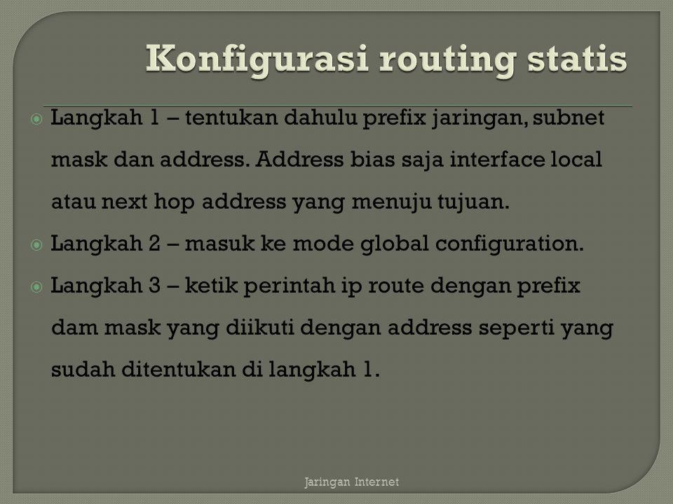  Langkah 1 – tentukan dahulu prefix jaringan, subnet mask dan address.