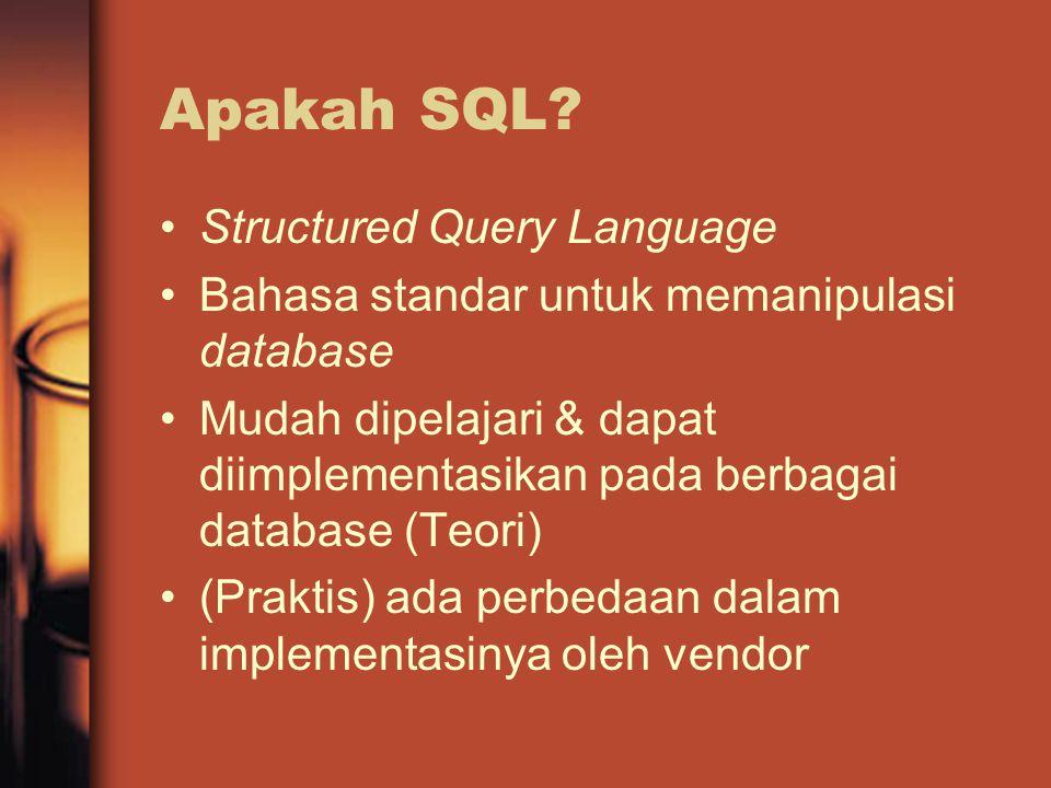 Apakah SQL.
