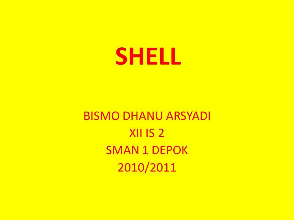 SHELL BISMO DHANU ARSYADI XII IS 2 SMAN 1 DEPOK 2010/2011