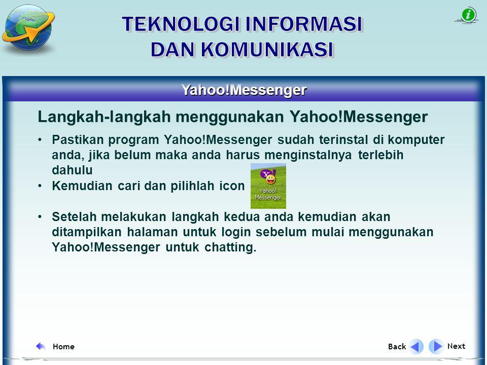 IRC singkatan dari kata Internet Relay Chat IRC merupakan satu cara untuk berkomunikasi secara real time melalui internet Penyedia layanan IRC yang sering digunakan antara lain: IRC Next Back Home Yahoo!Messenger mIRC Skype ICQ dll