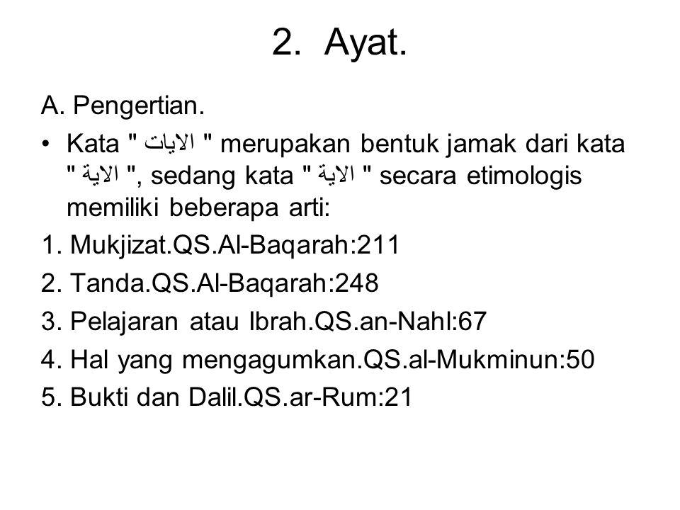 2. Ayat. A. Pengertian. Kata