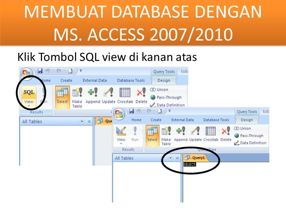 Klik Tombol SQL view di kanan atas