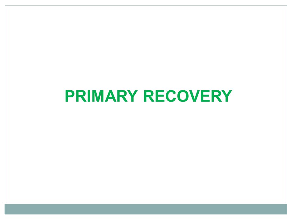 PRIMARY RECOVERY