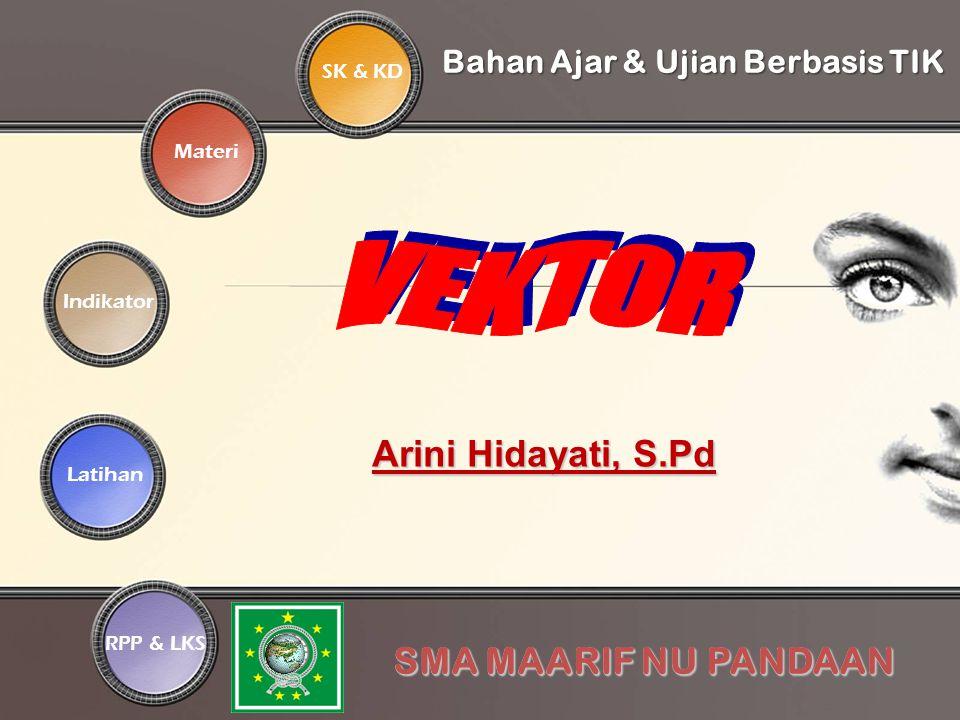 SK & KD Indikator Materi Latihan RPP & LKSBahan Ajar & Ujian Berbasis TIK SMA MAARIF NU PANDAAN Arini Hidayati, S.Pd