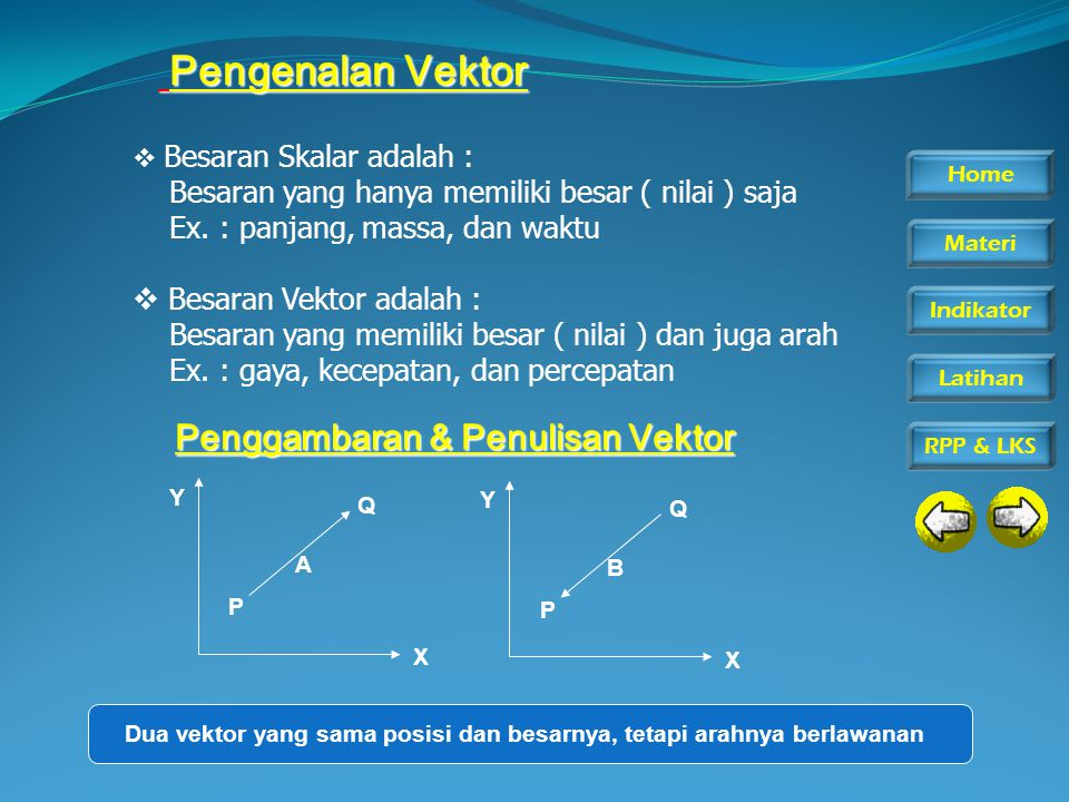  Besaran Skalar adalah : Besaran yang hanya memiliki besar ( nilai ) saja Ex.