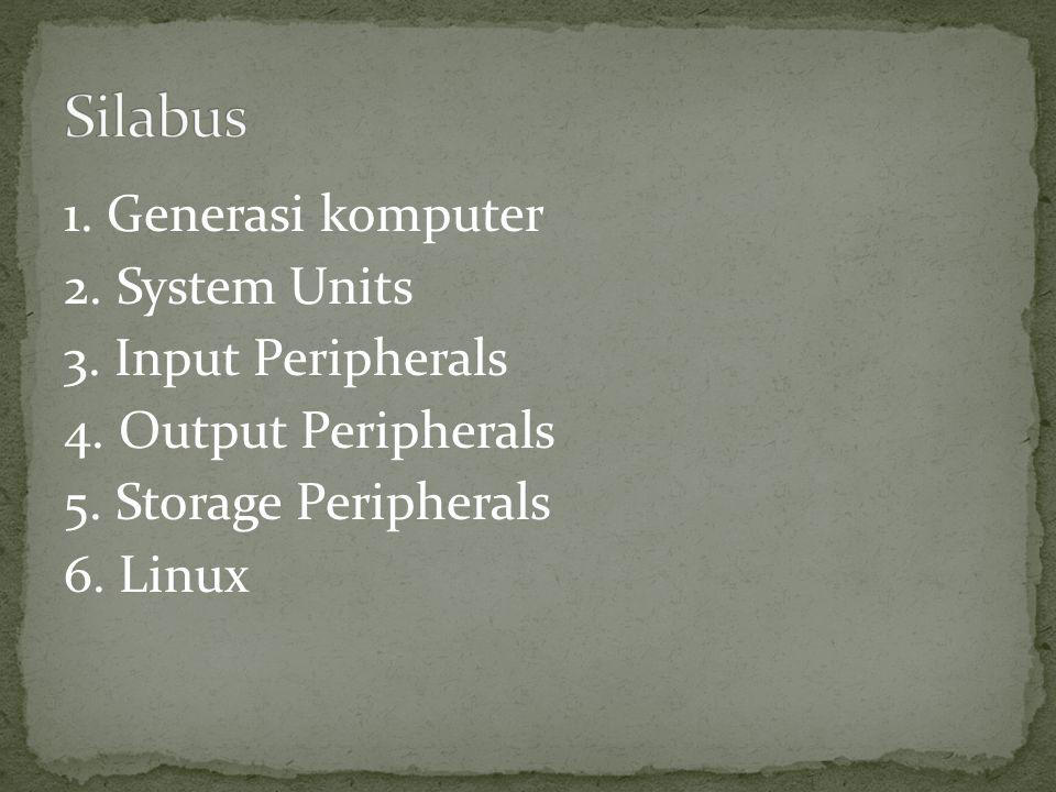 1. Generasi komputer 2. System Units 3. Input Peripherals 4.