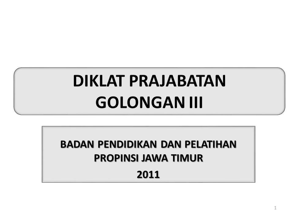 BADAN PENDIDIKAN DAN PELATIHAN PROPINSI JAWA TIMUR 2011 1