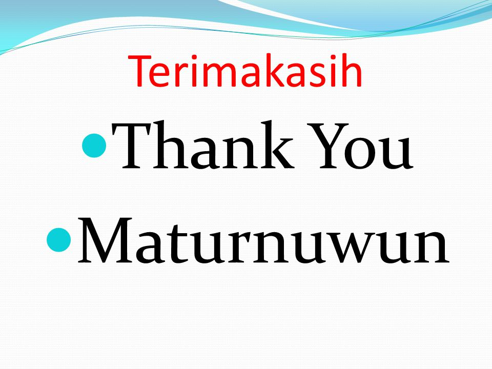 Terimakasih Thank You Maturnuwun