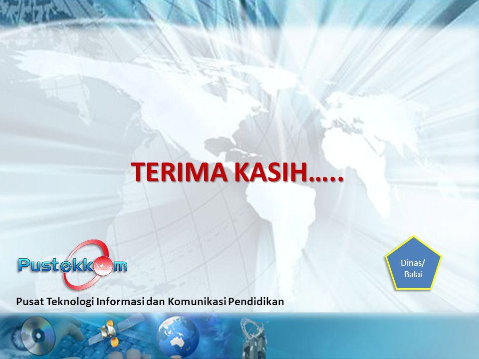 TERIMA KASIH….. Pusat Teknologi Informasi dan Komunikasi Pendidikan Dinas/ Balai Dinas/ Balai