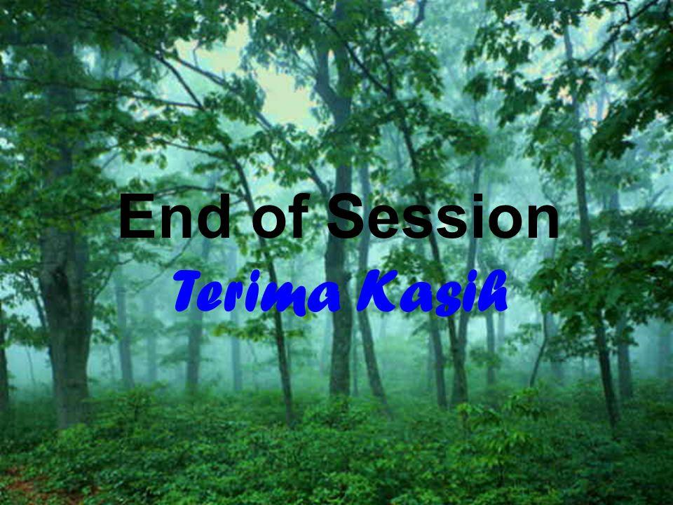 28 End of Session Terima Kasih