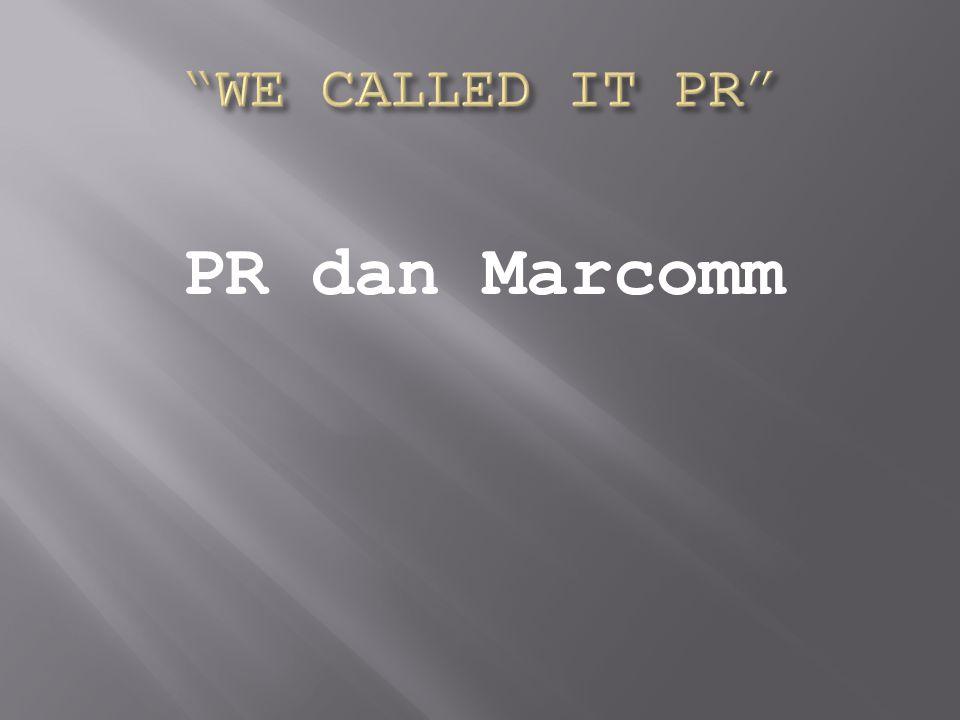 PR dan Marcomm