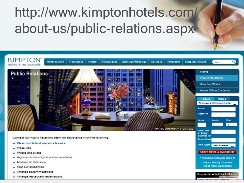 http://www.kimptonhotels.com/ about-us/public-relations.aspx
