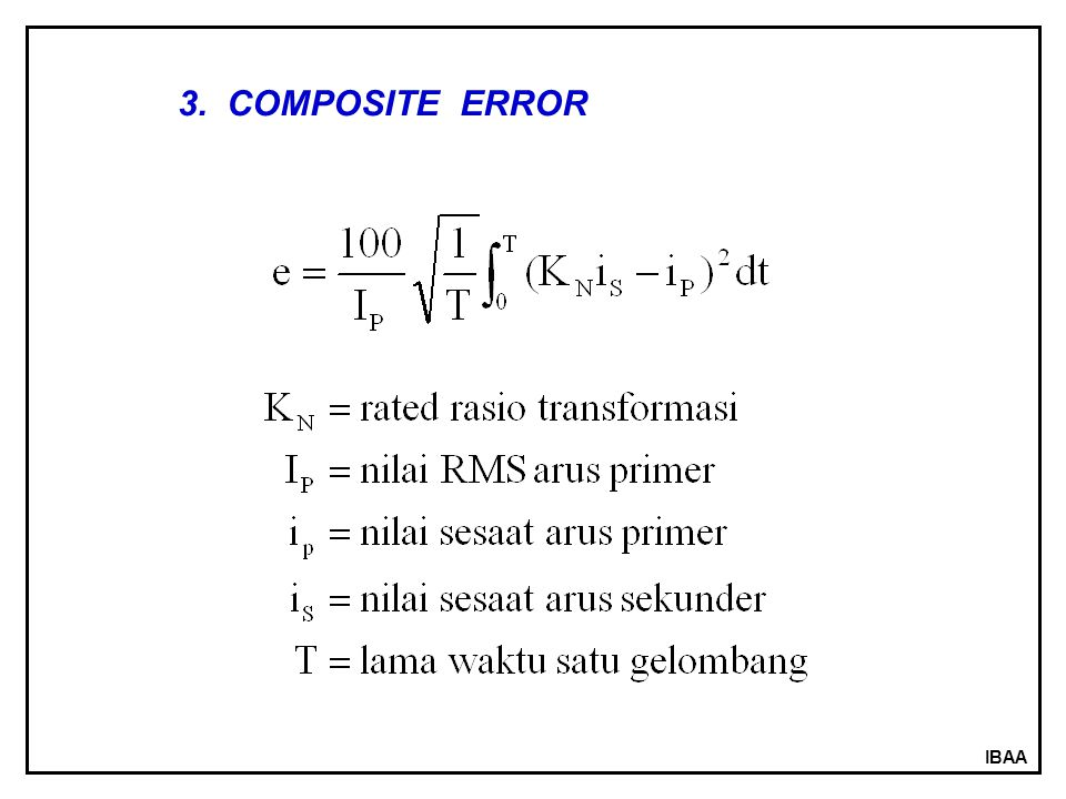IBAA 3. COMPOSITE ERROR