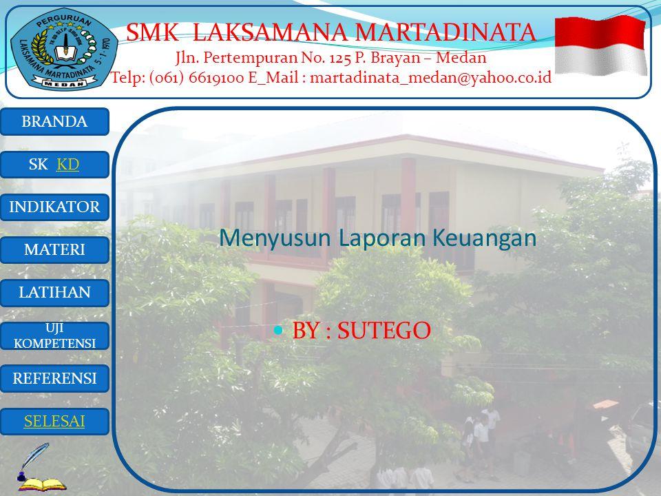 BRANDA SK KD INDIKATOR MATERI LATIHAN UJI KOMPETENSI REFERENSI SELESAI SMK LAKSAMANA MARTADINATA Jln.