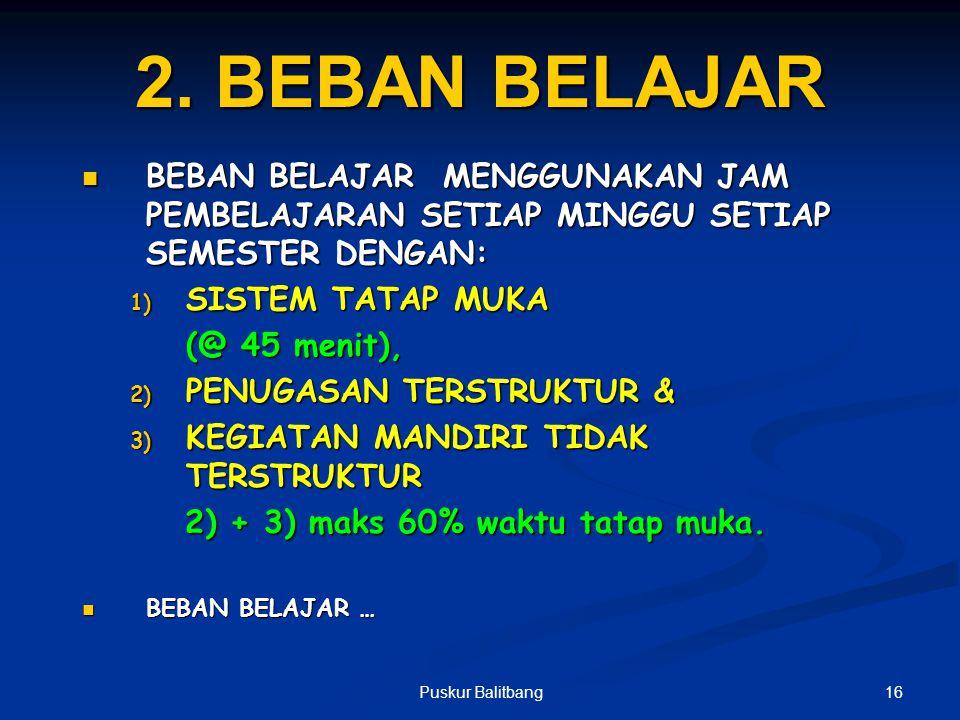 15Puskur Balitbang PENJELASAN STRUKTUR KURIKULUM SMK/MAK a) Alokasi waktu pelajaran perminggu adalah jumlah minimal bagi setiap program keahlian b) Du