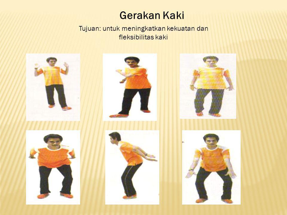 Gerakan Kaki Tujuan: untuk meningkatkan kekuatan dan fleksibilitas kaki