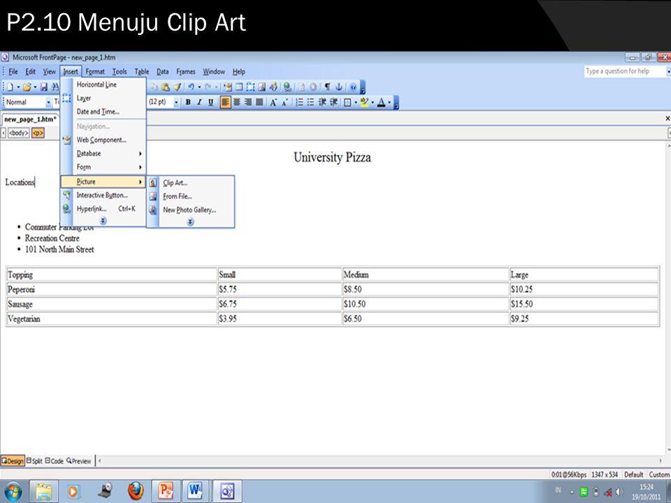 P2.10 Menuju Clip Art