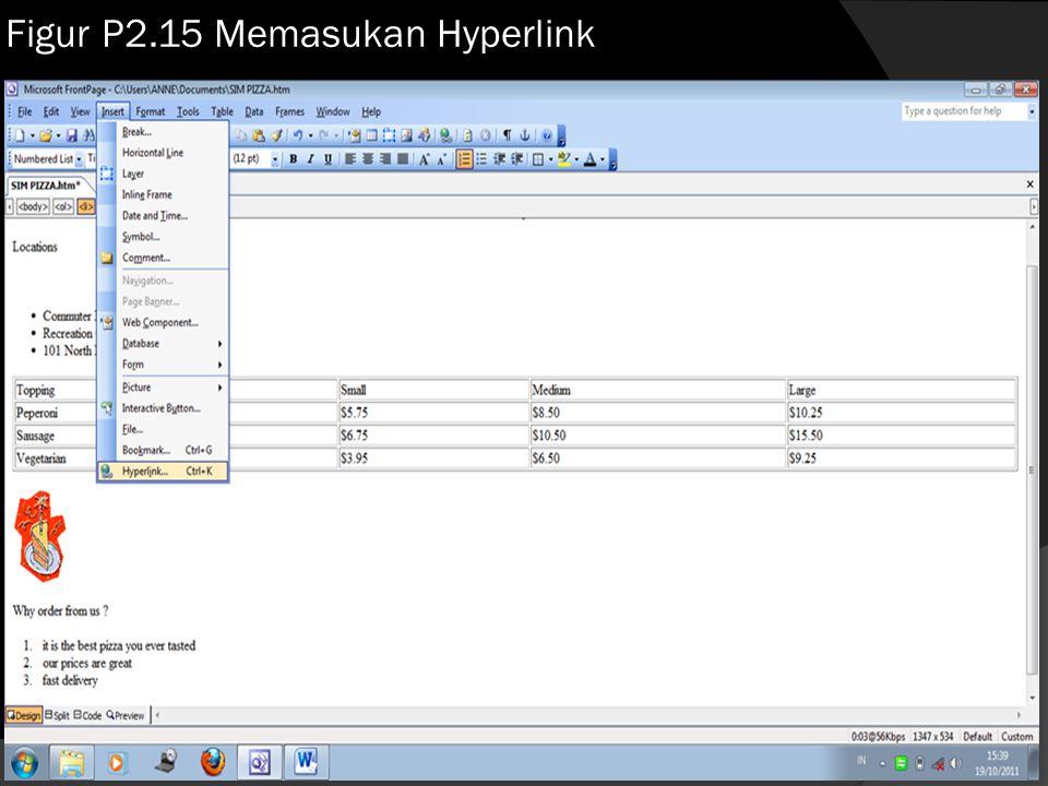 Figur P2.15 Memasukan Hyperlink