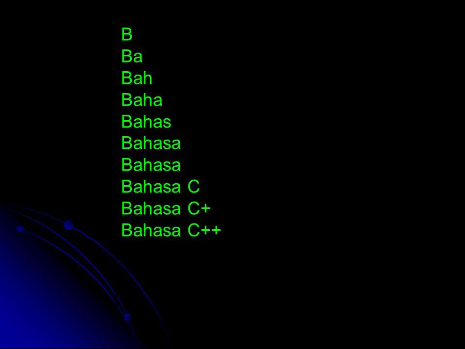 B Ba Bah Baha Bahas Bahasa Bahasa C Bahasa C+ Bahasa C++