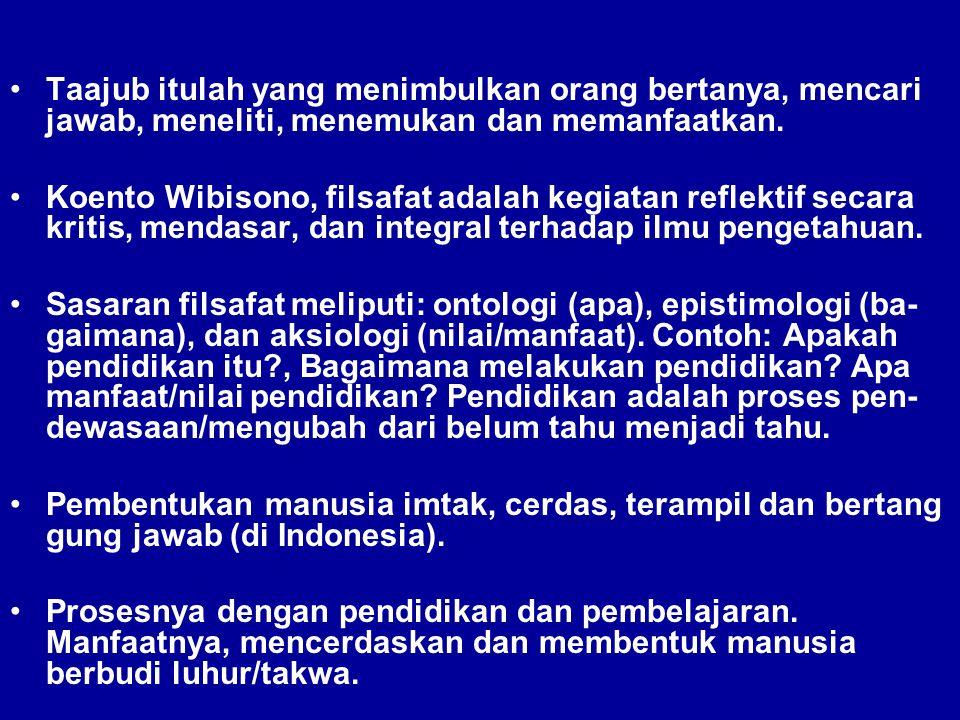 ILMU Koento Wibisono, Ilmu adalah sistem pernyataan yang dapat dibuktikan benar salahnya.